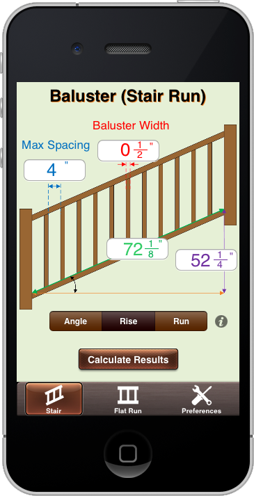 Baluster calc elite baluster calc elite preference settings allow users to easily switch between inches cm and mm for all dimensions in addition baluster calc elite is sciox Images